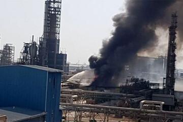 جزئیات آتش سوزی در پتروشیمی امیرکبیر / فیلم