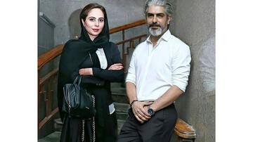 مهدی پاکدل به همراه همسرش / عکس