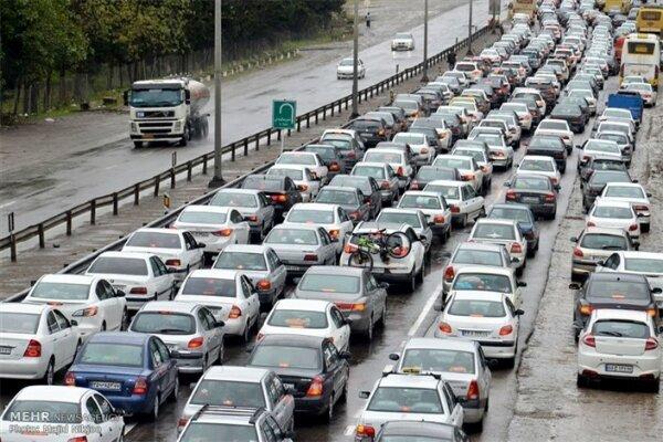 آخرین وضعیت ترددی جادهها در جمعه ۲۵ تیر | کاهش ۴ درصدی تردد در محورهای برون شهری