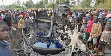 انفجار وحشتناک تانکر سوخت در کنیا / ۱۳ نفر کشته شدند / عکس و فیلم
