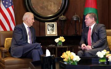 پادشاه اردن فردا با بایدن در کاخ سفید دیدار می کند