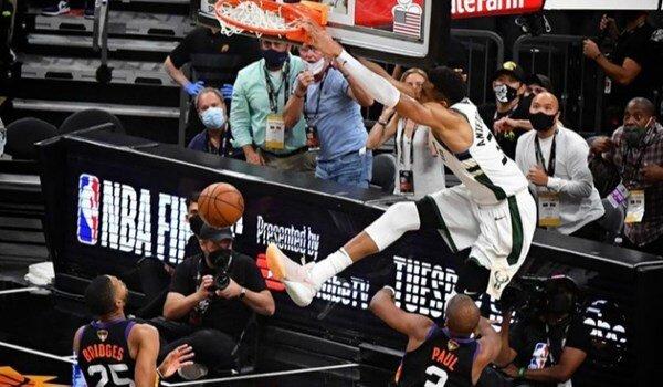 حرکت استثنایی یانیس آنتهتوکومپو در فینال NBA مقابل فنیکس / فیلم