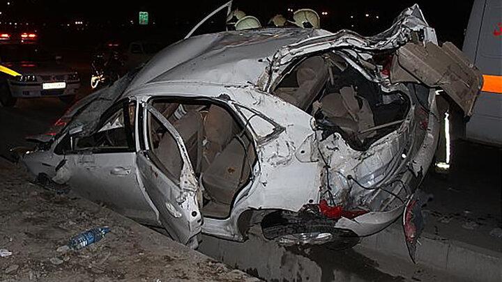 تصادف هولناک در کردستان / ۵ نفر کشته و زخمی شدند + عکس
