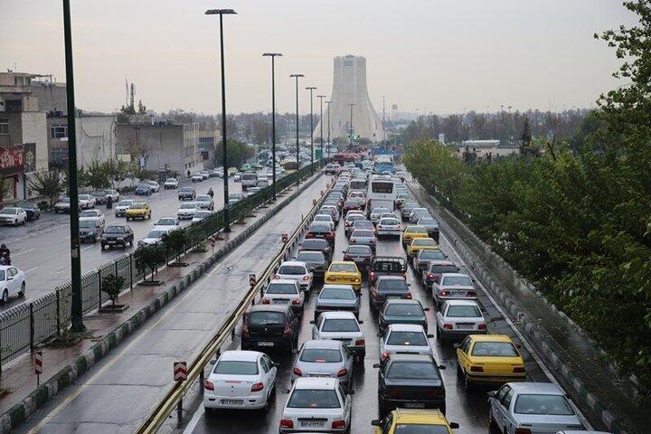 وضعیت ترافیکی تهران در نخستین روز از تعطیلات ۶ روزه پایتخت