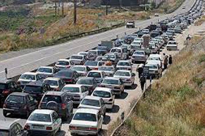 ترافیک وحشتناک در جاده هراز / فیلم