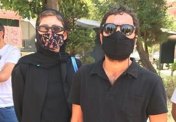 هنرمندان در حمایت از خوزستان تجمع کردند / عکس