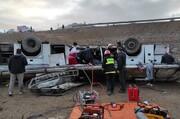 علت واژگونی اتوبوس در محور هراز چه بود؟ / جزییات