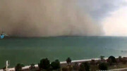ویدیو هولناک از لحظهای ورود طوفان وحشتناک به قشم