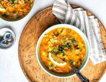دستور پخت سوپ مرغ و سبزیجات خوشمزه