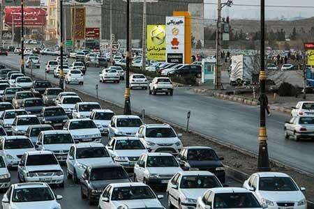 تردد خودرو در جادهها کاهش یافت