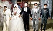 برگزاری جشن عروسی زوج ورامینی در کارخانه پلاستیکسازی / فیلم