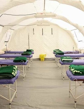 در تهران بیمارستان صحرایی احداث شد
