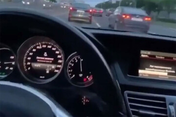 لاییکشی دیوانهوار با BMW در اتوبان! / فیلم