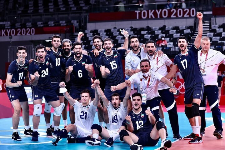 پیروزی تیم ملی والیبال ایران مقابل لهستان در المپیک توکیو