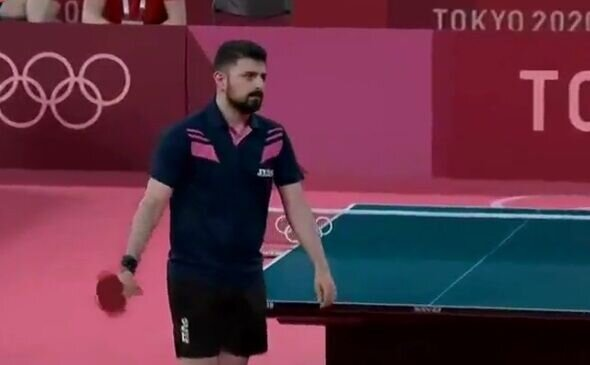 حرکات عجیب ملی پوش تنیس ایرانی مقابل حریف انگلیسی جنجالی شد / فیلم
