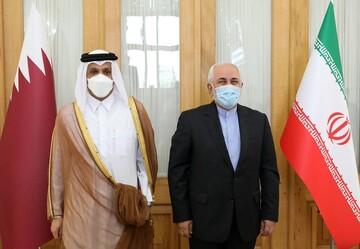 دیدار ظریف با وزیر خارجه قطر در تهران