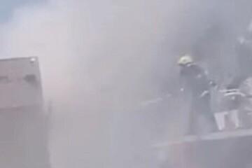 نخستین تصاویر از آتشسوزی جدید در یکی از بیمارستان های عراق / فیلم