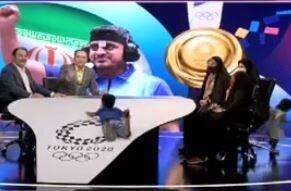 سرسُرهبازی فرزندان نخستین مدالآور ایرانی در المپیک با دکور ویژه برنامه تلویزیونی / فیلم