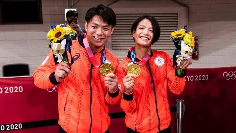 عکس  اتفاق نادر در المپیک/ خواهر- برادر ژاپنی تاریخساز شدند