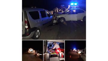 تصادف خونین آمبولانس با سمند در سمنان / آمار مصدومان اعلام شد + عکس