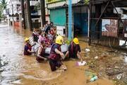 ۴ کشته و ۴۰ مفقودی بر اثر باران سیلآسا در هند