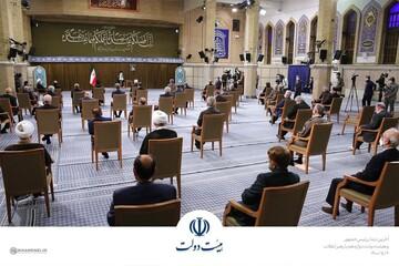 آخرین دیدار روحانی و هیئت دولت دوازدهم با رهبر انقلاب
