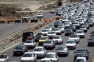 عکسی تلخ از ریزش مرگبار در جاده هراز