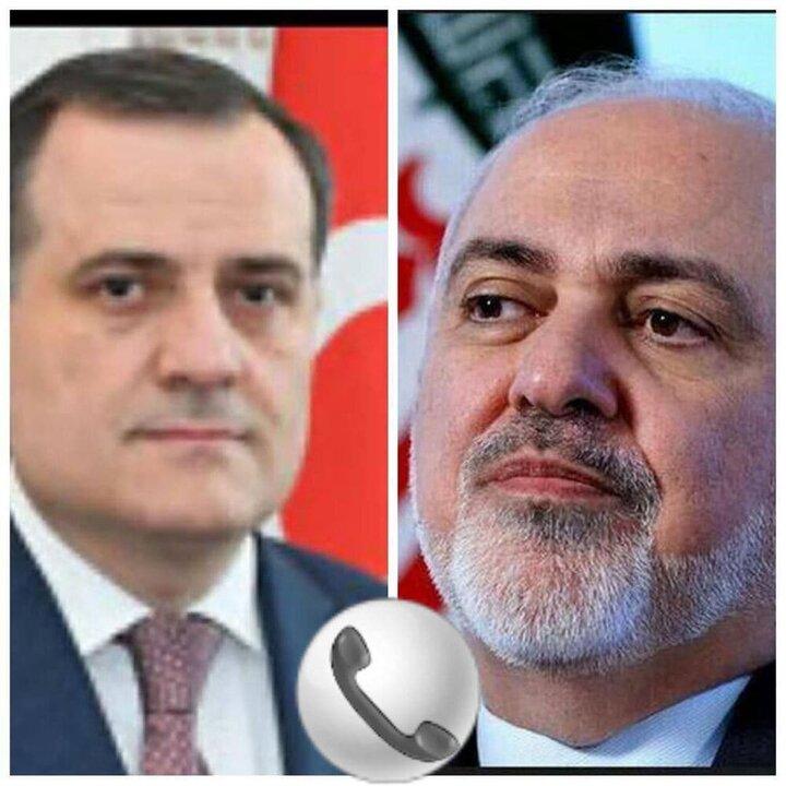 گفتگوی تلفنی ظریف با وزیر امور خارجه آذربایجان
