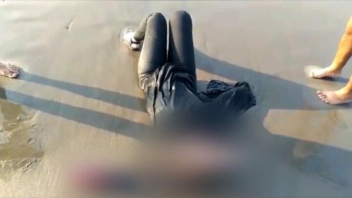 تصاویری از لحظه خودکشی دختر تهرانی در ساحل محمود آباد / فیلم
