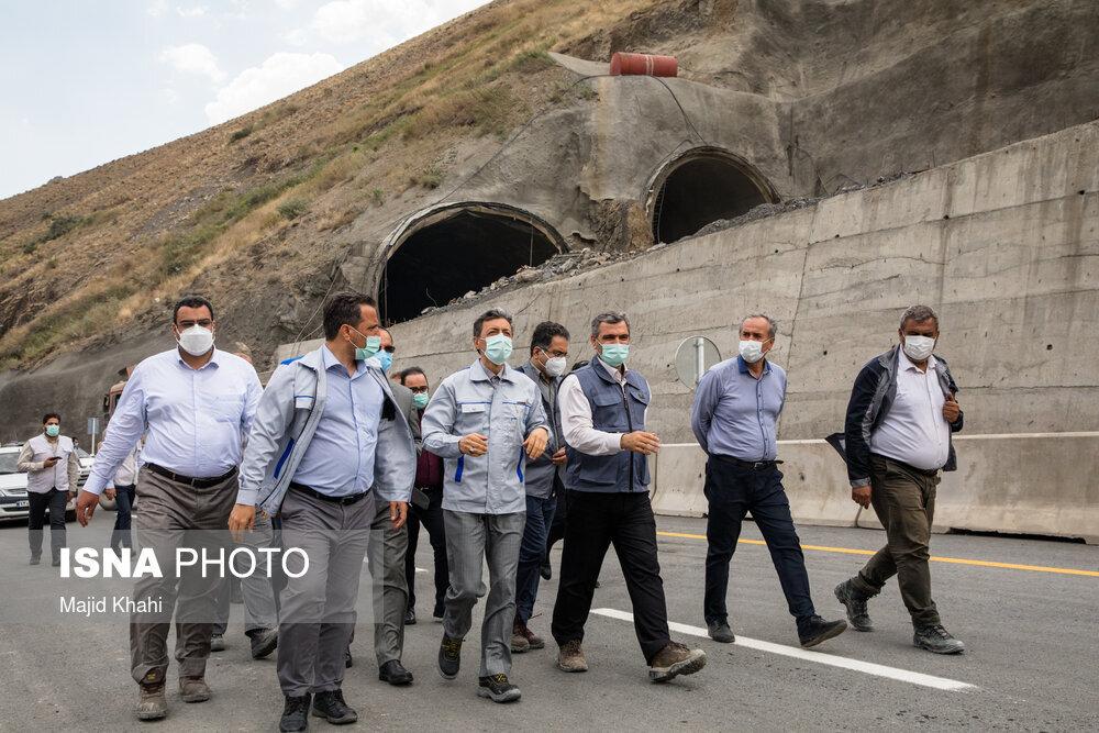 طولانی ترین تونل خاورمیانه در آزادراه تهران - شمال