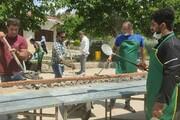 پخت کباب ۱۱۰ متری برای نیازمندان بجنوردی در روز عید غدیر / فیلم