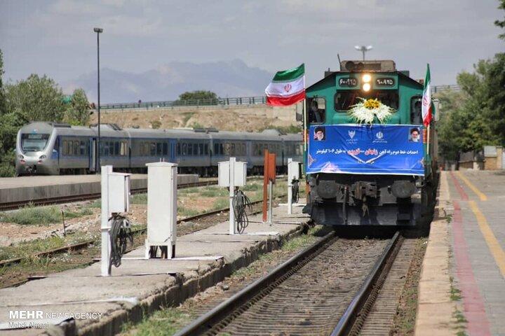 افتتاح ۱۰۶ کیلومتر از راه آهن زنجان - قزوین / تصاویر