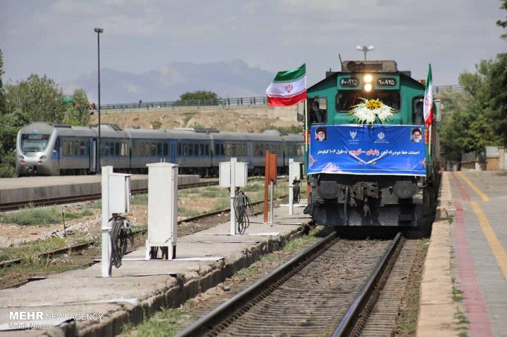 ۱۰۶ کیلومتر از راه آهن زنجان - قزوین افتتاح شد