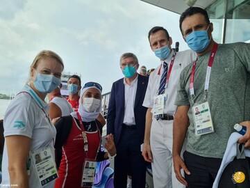 توماس باخ به دختر قایقران ایرانی هدید داد / عکس
