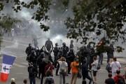 درگیری پلیس فرانسه با معترضان به محدودیتهای کرونایی