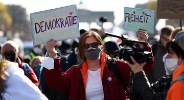 معترضان به محدودیتهای کرونایی در برلین به خیابان آمدند