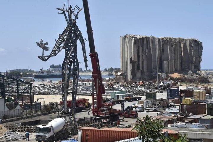 مجسمه یادبود قربانیان انفجار بیروت ساخته شد / عکس