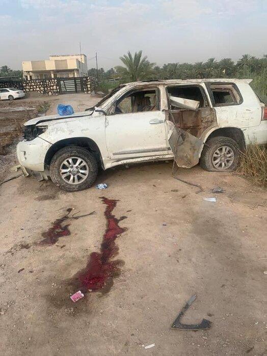 عکس | فرمانده تیپ نهم الحشد الشعبی ترور شد