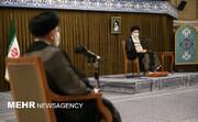 رهبر معظم انقلاب حکم تنفیذ سیدابراهیم رئیسی را اعطا کردند