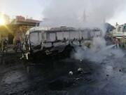 نخستین تصاویر از انفجار تروریستی اتوبوس در دمشق / فیلم