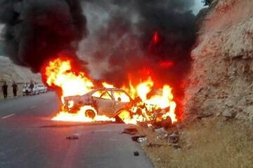 تصادف هولناک در ایلام / ۵ نفر کشته شدند + عکس