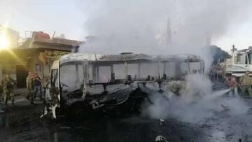 انفجار یک مینیبوس نظامی در دمشق / راننده کشته شد