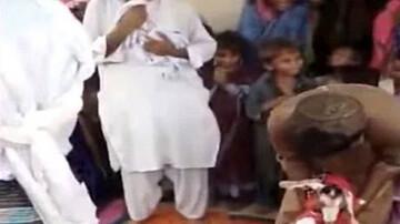 ازدواج جنجالی مرد پاکستانی با یک بز ! / فیلم مراسم عروسی