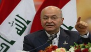 برهم صالح در راه تهران