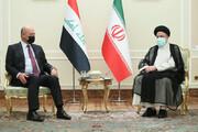 دیدار رئیسی با برهم صالح در تهران
