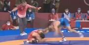 لحظه شکست تلخ حسن یزدانی مقابل دیوید تیلور آمریکایی در المپیک / فیلم