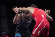 ضربه فنی شدن کشتیگیر ایرانی مقابل نایب قهرمان جهان