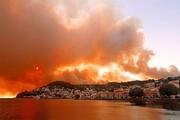 تصاویری دلهره آور از آتش سوزی وحشتناک در یونان / فیلم