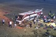 مرگ ۱۴ نفر بر اثر واژگونی اتوبوس در ترکیه