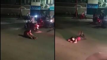 اقدام عجیب این زن پس از مصرف مشروبات الکلی! / فیلم
